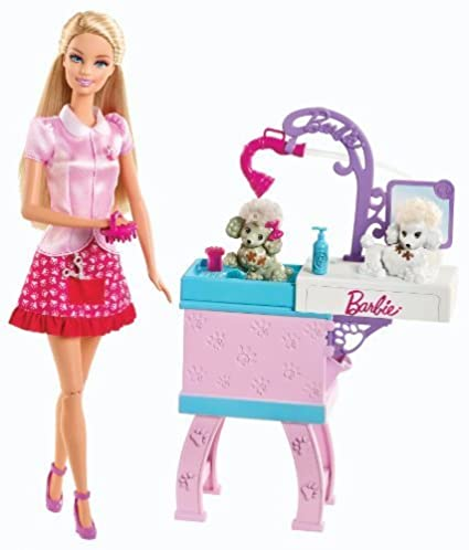 Barbie I Can be Pet Groomer Playset by Mattel TOY (English Manual)