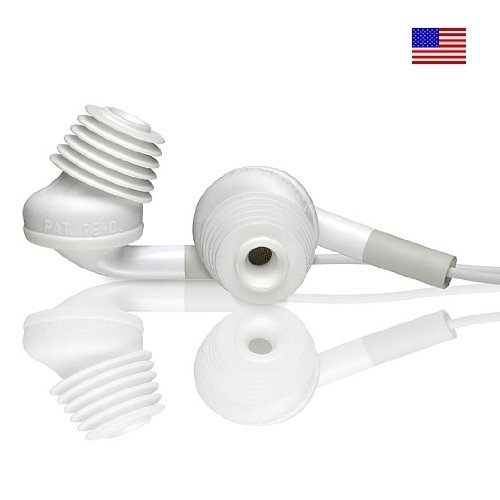 Burton Technologies Abr-White Acoustibuds Original Flexible Tips For Earphones And Bluetooth, 3 Pair, 3 Sizes, White ? (Discontinued By Manufacturer ? Replaced By Acoustibuds Model Epb)