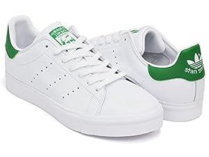 (アディダス) adidas STAN SMITH VULC [スタンスミス バルカ] FTWWHT / GREEN / FTWWHT s77450 26.5(8H)US [並行輸入品]