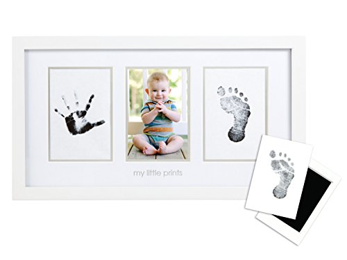 Pearhead Babyprints Handprint and Footprint Photo Frame with Clean-Touch Ink Pad
