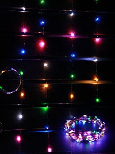 String Utility Lights : Mxsaver Fairy LED Copper Wire String Lights, Multi-colored, 32.8foot, 12v, Waterproof (Steady ...