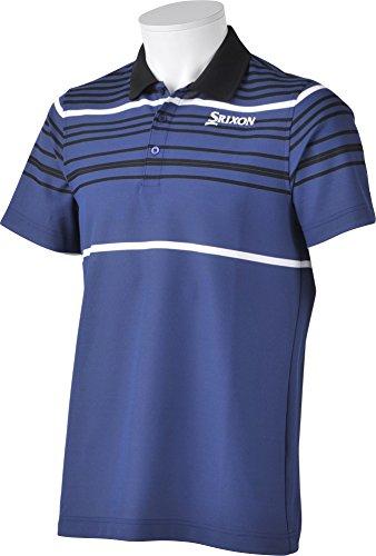 (スリクソン)SRIXON メンズゴルフ 半袖シャツ SRM1576S  FBLフリートブルー LL