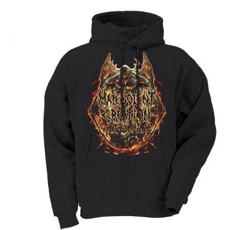Malevolent Creation - Invidious Album Cover Mens Hoodie In Black, Size: XX-Large, Color: Black