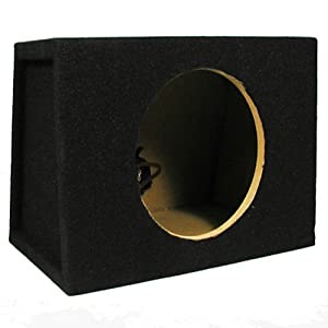 Single Car Black Subwoofer Box Sealed Automotive Enclosure for 8-Inch Woofer 8S by Sycho Sound