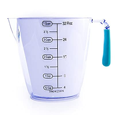 Miranda Measuring Cups Set -Best For Cooking and Baking, With Easy Grip Handles, And Dishwasher Safe. 1 Cup, 2 Cup, And 1 Quart Stackable Sizes. Makes A Great Gift!