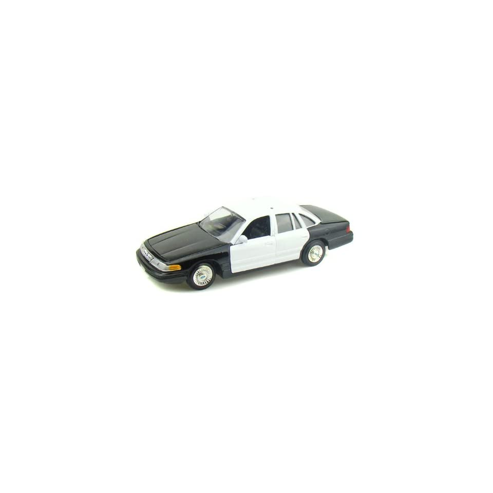 1998 Ford Crown Victoria Police Car Blank 1/24 Black / White