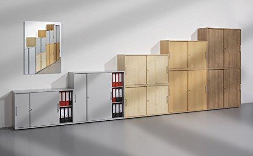 bm schiebetrenschrank mit schloss aktenschrank abschliebar fr ordner broschrank mit schiebetren. Black Bedroom Furniture Sets. Home Design Ideas
