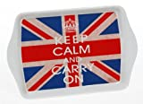 Keep Calm And Carry On Union Jack Small Melamine Snack Tray