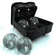 Chillz Ice Ball Maker Mold – Black Fl…