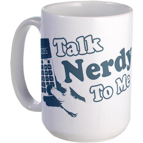 Cafepress Talk Nerdy To Me Large Mug Large Mug - Standard Multi-Color