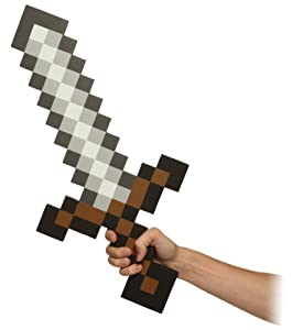 Think Geek Minecraft Sword Foam Weapon Action Figure Accessory by Think Geek