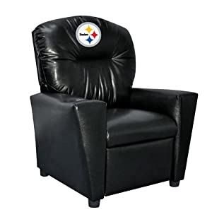 NFL Pittsburgh Steelers Tween Faux Leather Recliner