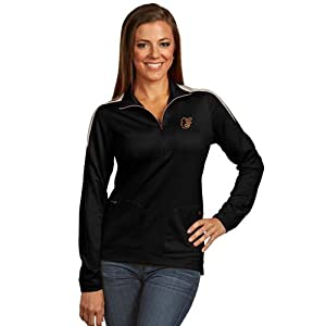 Baltimore Orioles Ladies Succeed 1 4 Zip Performance Pullover (Team Color) by Antigua