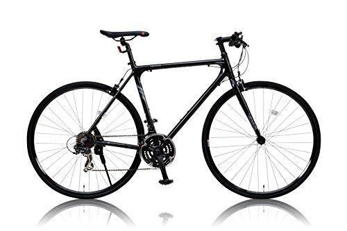 カノーバー クロスバイク  特殊加工(バフ研磨)アルミフレーム シマノ21段変速VENUS(ビーナス) ラピッドファイヤー LEDライト標準装備 重量:11.2Kg 700×25C