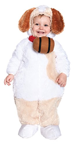 [Underwraps Baby's St. Bernard, White/Tan/Brown, Medium] (St Bernard Baby Costumes)