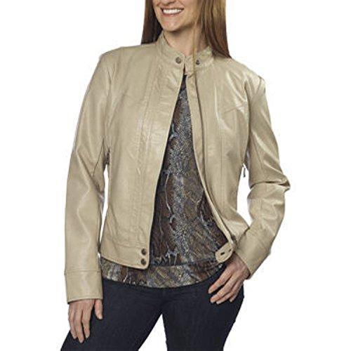 Bernardo ladies Fashion Jacket-Cream, Soft Wheat X-Large
