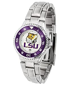 LSU Competitor Ladies Steel Band Watch by SunTime