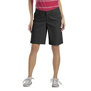 Dickies Women's 10 Inch Relaxed Stretch Twill Short, Black, 4