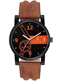 Ferry Rozer Black Dial Analog Watch For Men & Boy's - FR1088