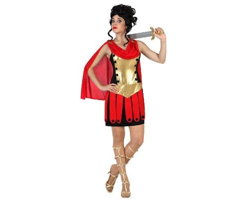 18306 - Römerin Kostüm, Größe XL, schwarz/rot
