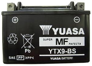 YUASA YTX9-BS Powersports AGM Motorrad Batterie, wartungsfrei