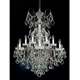 Best Buy Schonbek 3658-82SH New Orleans 14 Light Two Tier Chandelier in Tourmaline with Swarovski Strass Silver Shade crystal With Cheap Price