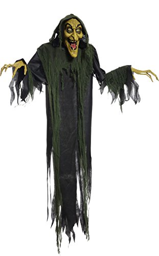 Hanging Witch 72 Inches Animated Halloween Prop Haunted House Yard Scary Decor by Mario Chiodo