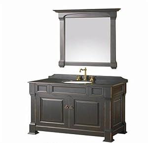 42 inches single sink bathroom vanity black granite top