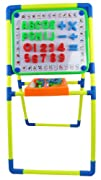 """24"""" Double Sided Standing Easel Learning Board for Kids with Magnetic Alphabet Letters and…"""