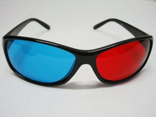 Fantastic Deal! Red-blue / Cyan Anaglyph Simple style 3D Glasses 3D movie game-Extra Upgrade Style