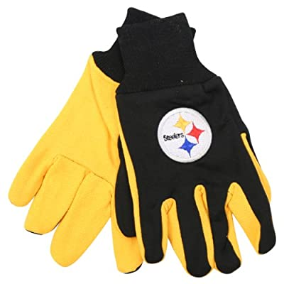 NFL Team Logo Grip Gloves - Pittsburgh Steelers
