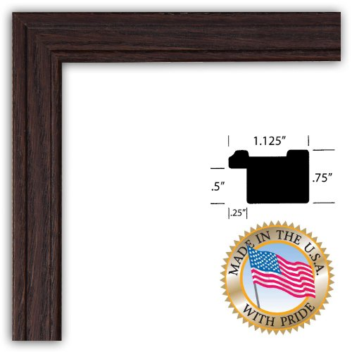 11x14 / 11 x 14 Walnut Stain on Red Oak Custom Picture Frame - Brand NEW .. 1.25'' wide
