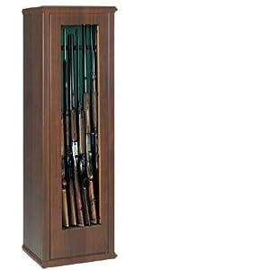 Armadio porta fucili fuciliera 7 posti finto legno amazon for Armadio amazon