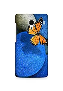 AMEZ Butterfly Pebbles Back Cover For Xiaomi Redmi 1S