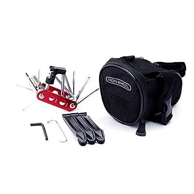 WOTOW Bicycle Repair Set Bike Outdoor Seat Saddle Bag 14 in 1 Multi Function Tool Kit Chain Splitter