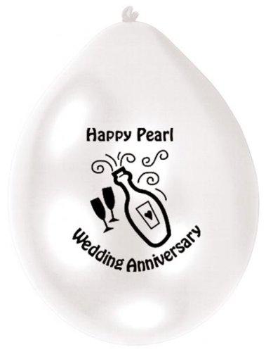 Amscan 22,8 cm Pearl Anniversary Lot de 10 ballons en Latex
