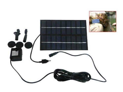 9V 1.8W Solar Powered Panel Water Fountain Pump for Pond Fish Tank GY-D-0018