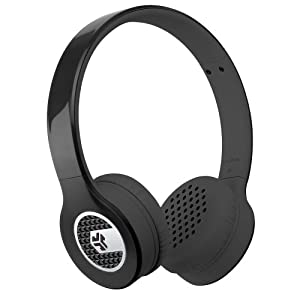 JLab Supra, Sleek Stereo On-Ear Headphones with Cable and Universal Mic (Black)