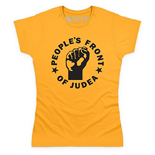 Inspired By Life Of Brian T-shirt - Peoples Front Of Judea, Donna, Giallo, M