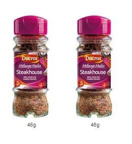 DUCROS - Melanges - Melange en flacons - Melange malin Steakhouse - 46 g - lot de 2