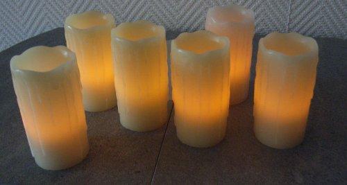 Echtwachs LED-Kerzen mit Ladestation (6er Set)
