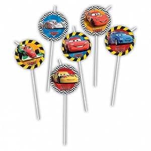 Disney Cars RSN Medallion Flexi Drinking Straws
