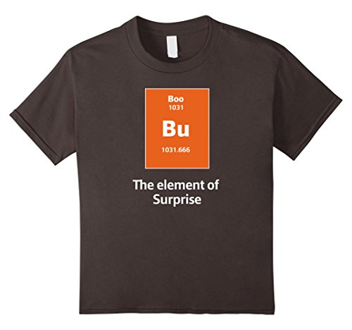 [Kids Boo Bu The Element Of Surprise Science Halloween Costume Tee 10 Asphalt] (Mens Halloween Costume Ideas Last Minutes)