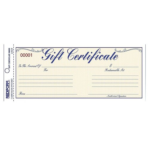 Reviews amp ratings on rediform gift certificates w envelopes 8 1 2w x