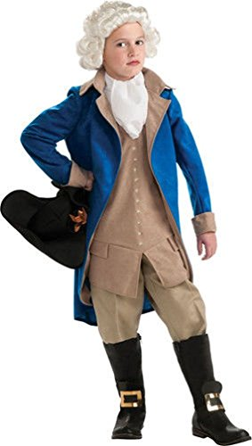 [Popcandy Child George Washington Costume Colonial Boy Costume Minuteman Costume 884718] (Boy George 80s Costume)
