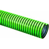 Tigerflex TG Series EPDM Tiger Green Suction Hose with Polyethylene Helix, 45 PSI Max Pressure, 3 inches ID, 100 feet Length