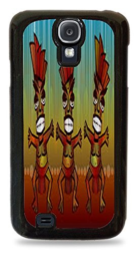 [Aztec Dancers Black Hardshell Case for Samsung Galaxy S4] (Aztec Dancers Costumes)