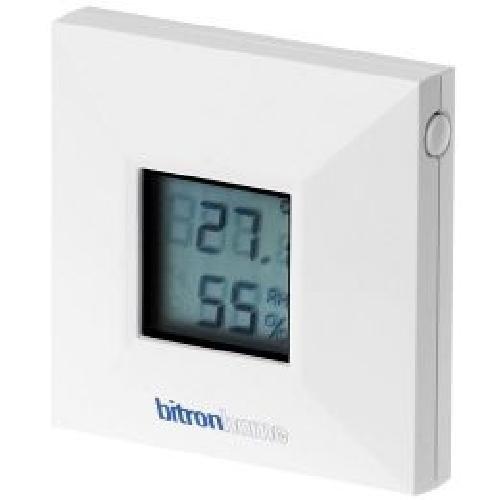 Bitron Home Temperatur- und Luftfeuchtigkeitssensor mit Display, für Qivicon