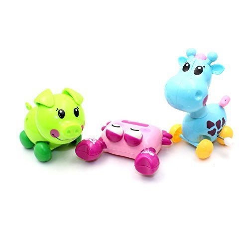riipoo Novelty child interactive toys,cartoon characters,Develop Baby Intelligence Wind-up Crab,giraffe,pig Toys,Inexpensive toys,Suitable for over 3 years of age. - 1