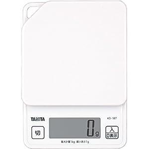 タニタ デジタルクッキングスケール 1kg ホワイト KD-187-WH